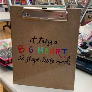 Teacher mini clipboard and notepad